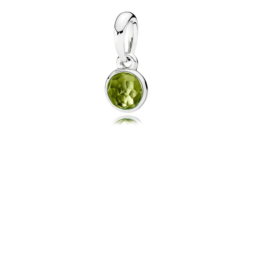 Pandora August Droplet Necklace Pendant 390396PE