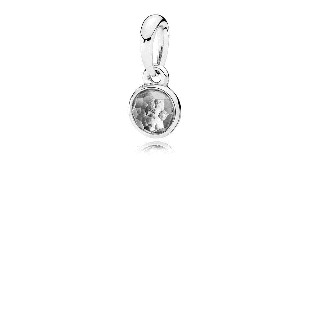 Pandora April Droplet Pendant, Rock Crystal 390396RC