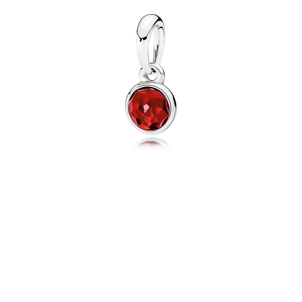 Pandora July Droplet Pendant, Synthetic Ruby 390396SRU