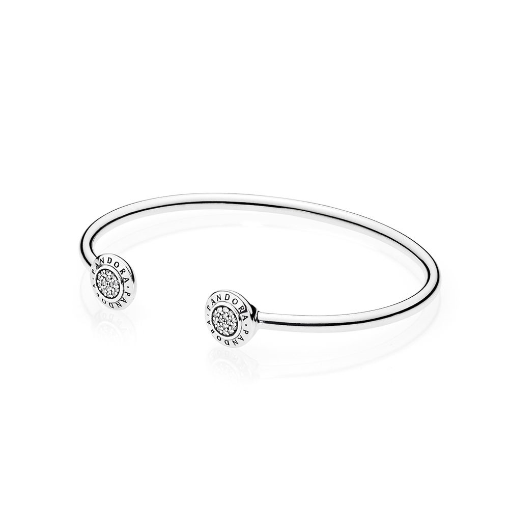 Pandora PANDORA Signature Bangle Bracelet, Clear CZ 590528CZ