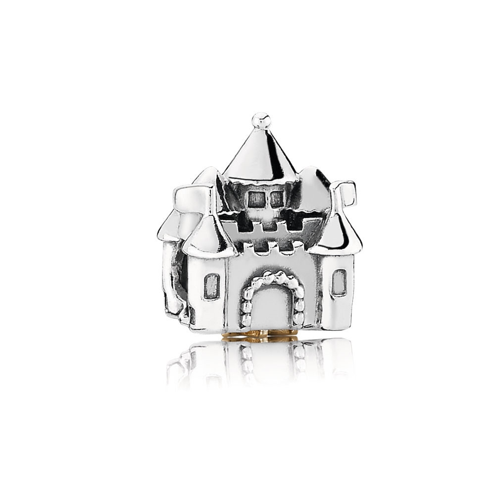 Pandora Fairytale Castle Silver and Gold Charm - PANDORA 791133P