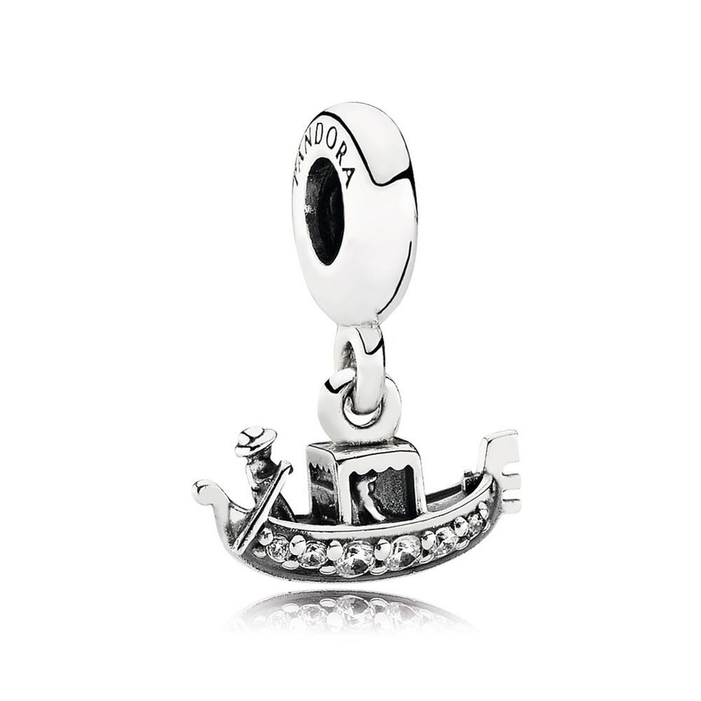 Gondola Dangle Charm, Clear CZ 791143CZ