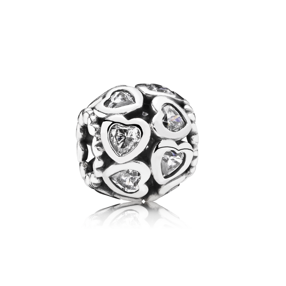 Love All Around Charm, Clear CZ 791250CZ