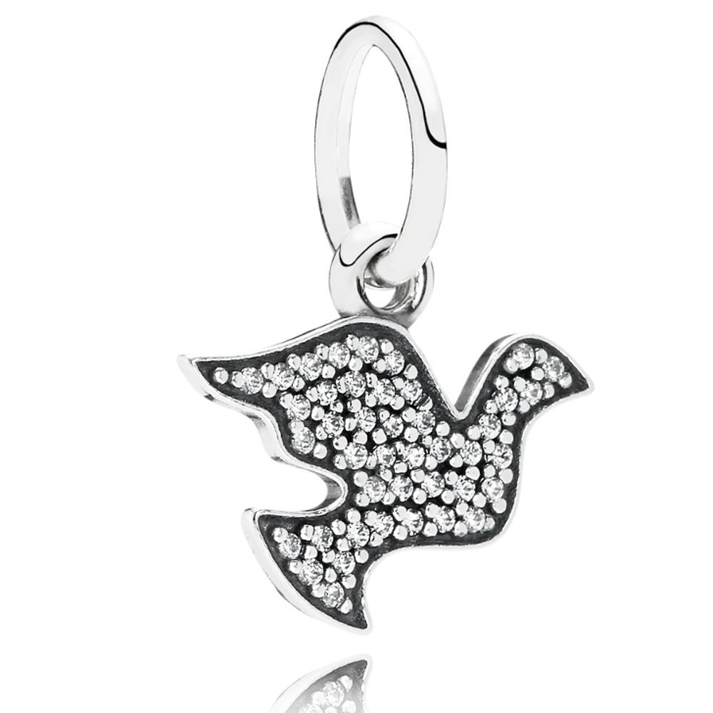 Pandora Charm CZ Peace Dove Dangle Pendant 791350 791350