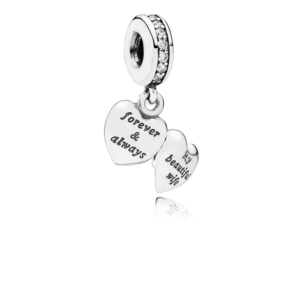 Pandora My Beautiful Wife Dangle Charm, Clear CZ 791524CZ