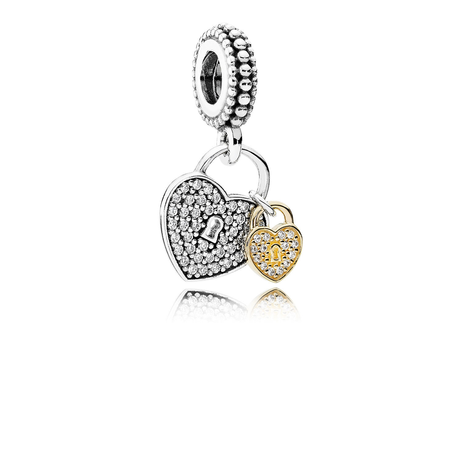 Pandora Love Locks Dangle Charm, Clear CZ 791807cz