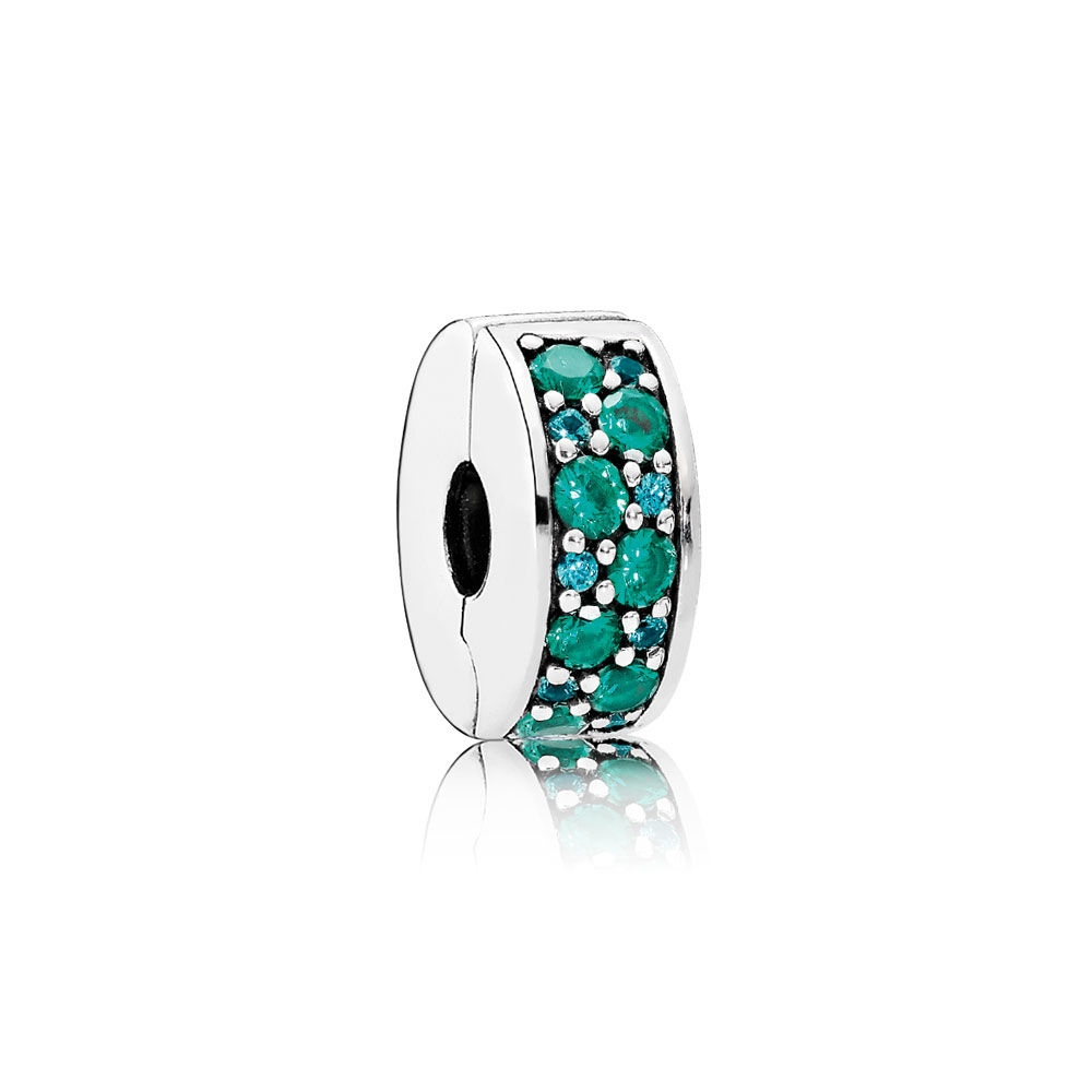 Pandora Mosaic Shining Elegance Clip, Multi-Colored Crystals & T