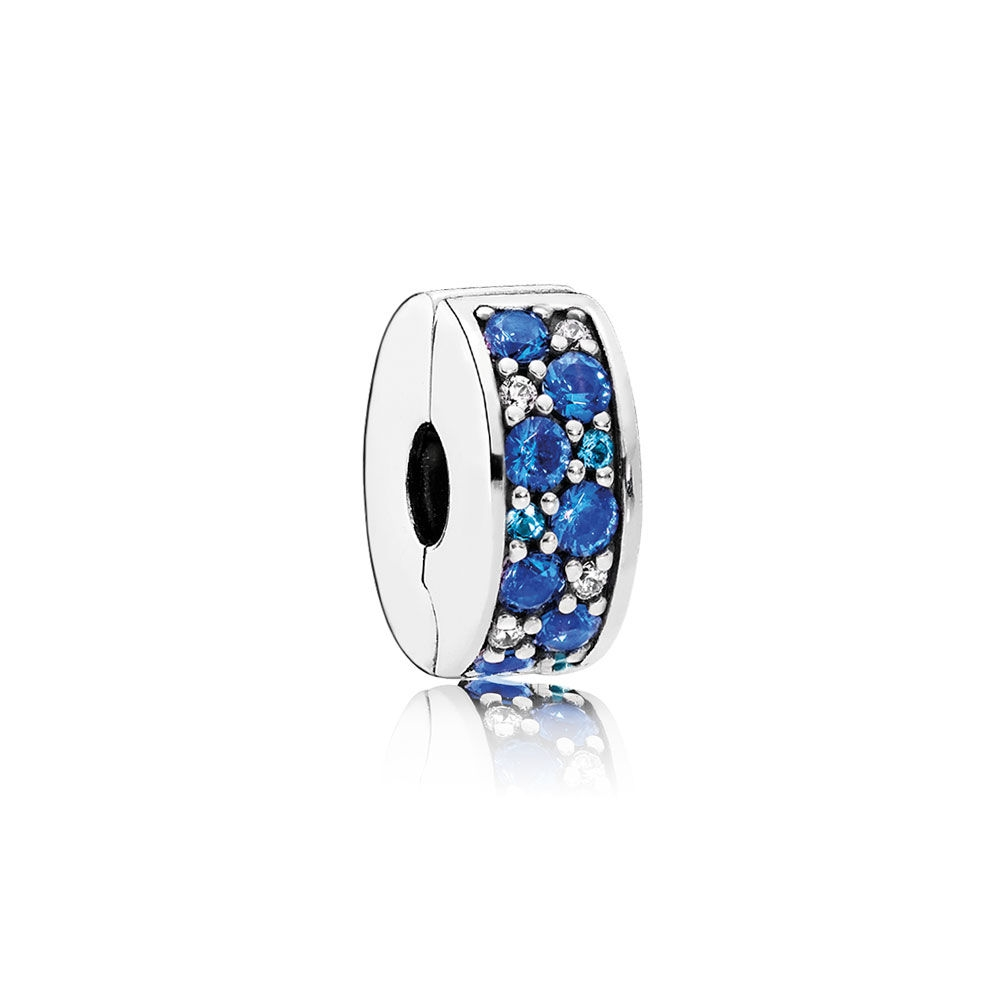 Pandora Mosaic Shining Elegance Clip, Multi-Colored Crystals & C