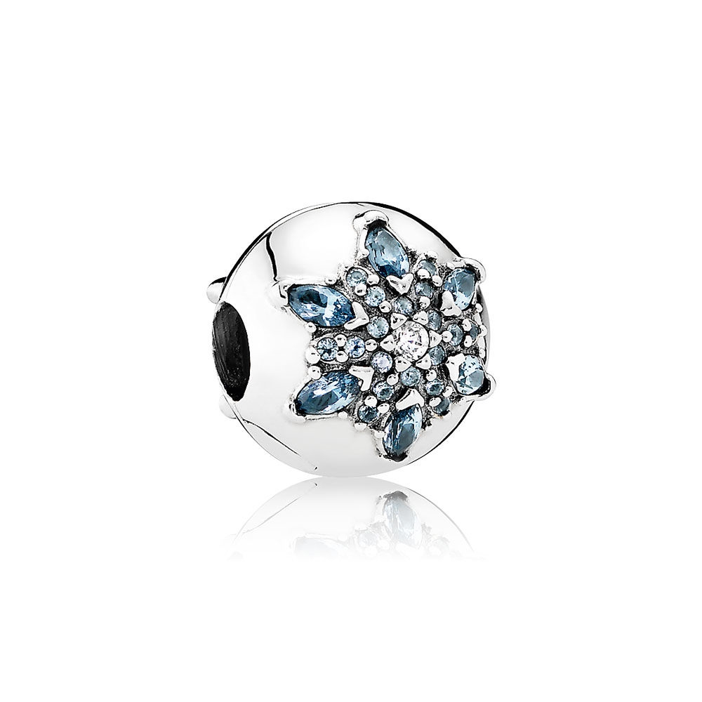 Pandora Crystalized Snowflake, Multi-Colored Crystal & Clear CZ